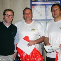 Vítězové 1. ročníku Replay Cup ve čtyřhře: Jiří Čupa a Jiří Rečka