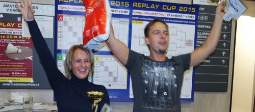 TURNAJ v badmintonu ve smíšené čtyřhře dne 26.9.2015 vyhráli manželé Janákovi